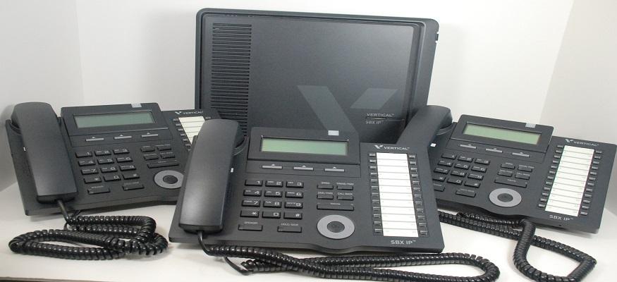 Vertical SBX IP with 3 phones